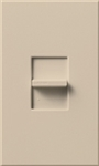 Lutron NTFTU-5A-277-TP Nova T 277V / 5A Fluorescent Tu-Wire Single Pole Slide-to-Off Dimmer in Taupe, Matte Finish