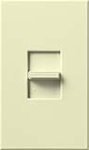 Lutron NTFTV-AL Nova T 16 Amps Fluorescent Single Pole Slide-to-Off Dimmer in Almond, Matte Finish