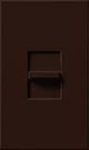 Lutron NTFTV-BR Nova T 16 Amps Fluorescent Single Pole Slide-to-Off Dimmer in Brown, Matte Finish