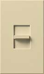 Lutron NTFTV-IV Nova T 16 Amps Fluorescent Single Pole Slide-to-Off Dimmer in Ivory, Matte Finish