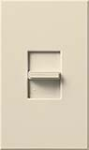 Lutron NTFTV-LA Nova T 16 Amps Fluorescent Single Pole Slide-to-Off Dimmer in Light Almond, Matte Finish
