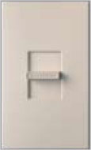 Lutron NTFTV-TP Nova T 16 Amps Fluorescent Single Pole Slide-to-Off Dimmer in Taupe, Matte Finish
