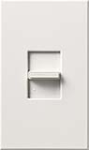 Lutron NTFTV-WH Nova T 16 Amps Fluorescent Single Pole Slide-to-Off Dimmer in White, Matte Finish
