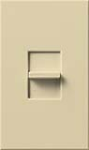 Lutron NTLV-1003P-IV Nova T 800W Magnetic Low Voltage Single Pole / 3-Way Preset Dimmer in Ivory, Matte Finish