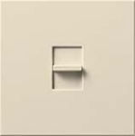 Lutron NTLV-1500-LA Nova T 1200W Magnetic Low Voltage Single Pole Slide-to-Off Dimmer in Light Almond, Matte Finish