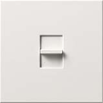 Lutron NTLV-1500-WH Nova T 1200W Magnetic Low Voltage Single Pole Slide-to-Off Dimmer in White, Matte Finish