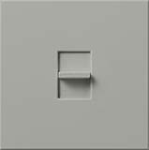 Lutron NTLV-1503P-GR Nova T 1200W Magnetic Low Voltage Single Pole / 3-Way Preset Dimmer in Gray, Matte Finish