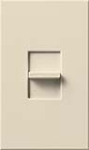 Lutron NTLV-600-LA Nova T 120V / 450W Magnetic Low Voltage Single Pole Slide-to-Off Dimmer in Light Almond, Matte Finish