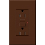 Lutron NTR-15-GFTR-SI Nova T Duplex Tamper Resistant GFCI Receptacles 15A 125V in Sienna, Matte Finish (Replaced by NTR-15-GFST-SI)