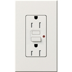 Lutron NTR-15-GFTR-WH Nova T Duplex Tamper Resistant GFCI Receptacles 15A 125V in White, Matte Finish (Replaced by NTR-15-GFST-WH)
