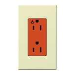Lutron NTR-15-IG-OR-AL Nova T 15A, 125V, Isolated Ground Receptacle in Almond, Matte Finish