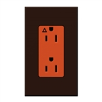 Lutron NTR-15-IG-OR-BR Nova T 15A, 125V, Isolated Ground Receptacle in Brown, Matte Finish
