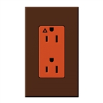 Lutron NTR-15-IG-OR-SI Nova T 15A, 125V, Isolated Ground Receptacle in Sienna, Matte Finish