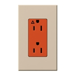 Lutron NTR-15-IG-OR-TP Nova T 15A, 125V, Isolated Ground Receptacle in Taupe, Matte Finish