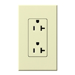 Lutron NTR-20-AL Nova T Receptacles 20A 125V in Almond, Matte Finish