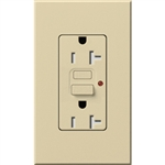Lutron NTR-20-GFTR-IV Nova T Duplex Tamper Resistant GFCI Receptacles 20A 125V in Ivory, Matte Finish (Replaced by NTR-20-GFST-IV)