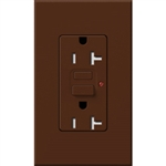 Lutron NTR-20-GFTR-SI Nova T Duplex Tamper Resistant GFCI Receptacles 20A 125V in Sienna, Matte Finish (Replaced by NTR-20-GFST-SI)