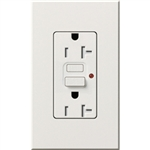 Lutron NTR-20-GFTR-WH Nova T Duplex Tamper Resistant GFCI Receptacles 20A 125V in White, Matte Finish (Replaced by NTR-20-GFST-WH)