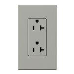 Lutron NTR-20-GR Nova T Receptacles 20A 125V in Gray, Matte Finish