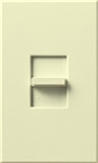 Lutron NTSTV-DV-AL Nova T 8 Amps LED / Fluorescent 0-10 VDC, Line Voltage Single Pole Slide-to-Off Dimmer in Almond, Matte Finish
