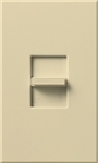 Lutron NTSTV-DV-IV Nova T 8 Amps LED / Fluorescent 0-10 VDC, Line Voltage Single Pole Slide-to-Off Dimmer in Ivory, Matte Finish