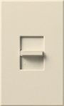 Lutron NTSTV-DV-LA Nova T 8 Amps LED / Fluorescent 0-10 VDC, Line Voltage Single Pole Slide-to-Off Dimmer in Light Almond, Matte Finish