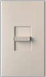 Lutron NTSTV-DV-TP Nova T 8 Amps LED / Fluorescent 0-10 VDC, Line Voltage Single Pole Slide-to-Off Dimmer in Taupe, Matte Finish