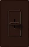 Lutron S-1000-BR Skylark 1000W Incandescent / Halogen Single Pole Slide-to-Off Dimmer in Brown