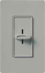 Lutron S-1000-GR Skylark 1000W Incandescent / Halogen Single Pole Slide-to-Off Dimmer in Gray