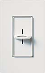 Lutron S-1000-WH Skylark 1000W Incandescent / Halogen Single Pole Slide-to-Off Dimmer in White