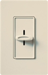 Lutron S-1000H-LA Skylark 1000W Incandescent / Halogen Single Pole Slide-to-Off Dimmer in Light Almond