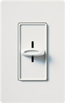 Lutron S-1000H-WH Skylark 1000W Incandescent / Halogen Single Pole Slide-to-Off Dimmer in White