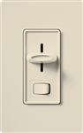 Lutron S-600PH-LA Skylark 600W Incandescent / Halogen Single Pole Preset Dimmer in Light Almond