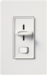 Lutron S-600PH-WH Skylark 600W Incandescent / Halogen Single Pole Preset Dimmer in White