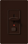 Lutron S-600PNLH-BR Skylark 600W Incandescent / Halogen Single Pole Preset Dimmer with Locator Light in Brown