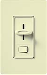 Lutron S-603P-AL Skylark 600W Incandescent / Halogen Single Pole / 3-Way Preset Dimmer in Almond
