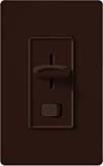 Lutron S-603P-BR Skylark 600W Incandescent / Halogen Single Pole / 3-Way Preset Dimmer in Brown