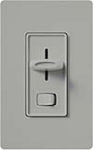 Lutron S-603P-GR Skylark 600W Incandescent / Halogen Single Pole / 3-Way Preset Dimmer in Gray