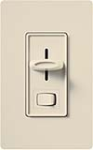 Lutron S-603P-LA Skylark 600W Incandescent / Halogen Single Pole / 3-Way Preset Dimmer in Light Almond