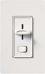 Lutron S-603P-WH Skylark 600W Incandescent / Halogen Single Pole / 3-Way Preset Dimmer in White