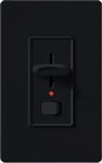 Lutron S-603PNLH-BL Skylark 600W Incandescent / Halogen Single Pole / 3-Way Preset Dimmer with Locator Light in Black