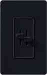 Lutron S2-L-BL Skylark 2 x 300W Incandescent / Halogen Single Pole Dual Dimmer in Black