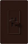 Lutron S2-L-BR Skylark 2 x 300W Incandescent / Halogen Single Pole Dual Dimmer in Brown