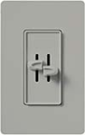 Lutron S2-L-GR Skylark 2 x 300W Incandescent / Halogen Single Pole Dual Dimmer in Gray