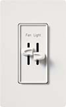 Lutron S2-LF-WH Skylark 300W & 2.5A Single Pole Incandescent / Halogen Dimmer and Fully Variable Fan Control in White