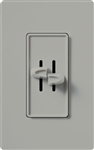 Lutron S2-LH-GR Skylark 2 x 300W Incandescent / Halogen Single Pole Dual Dimmer in Gray