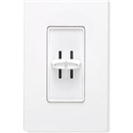Lutron S2-LH-WH Skylark 2 x 300W Incandescent / Halogen Single Pole Dual Dimmer in White