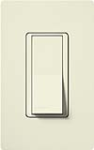 Lutron SC-1PSNL-BI Claro Satin 15A Single Pole Switch with Locator Light in Biscuit