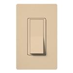 Lutron SC-1PSNL-DS Claro Satin 15A Single Pole Switch with Locator Light in Desert Stone
