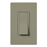 Lutron SC-1PSNL-GB Claro Satin 15A Single Pole Switch with Locator Light in Greenbriar